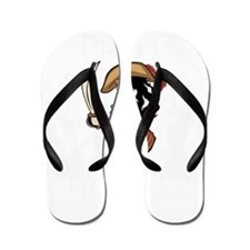 Pirate Hooker (Black) Flip Flops