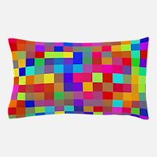 Rainbow Pixels Pattern Pillow Case