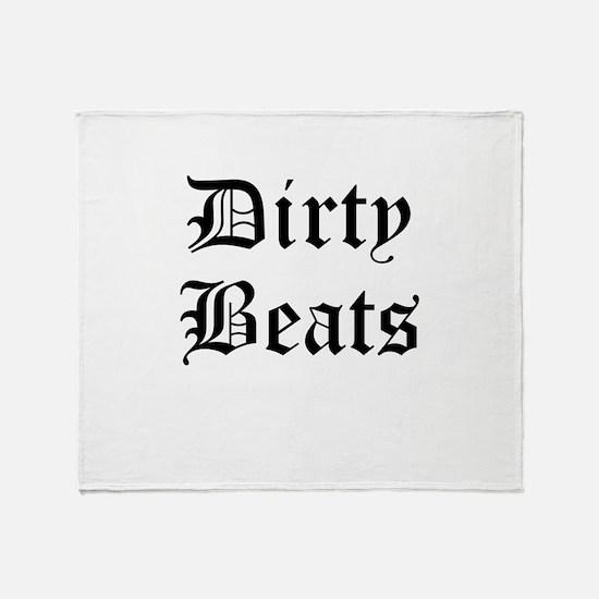 Dirty Beats Throw Blanket