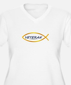 Jesus Fish Veteran T-Shirt
