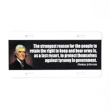 Funny 2nd amendment Aluminum License Plate