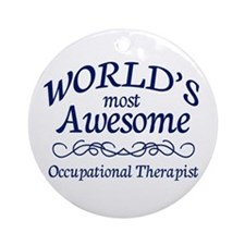 Occupational Therapist Ornament (Round)