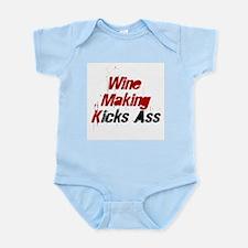 Wine Making Kicks Ass Infant Creeper