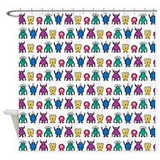 Kawaii Monster Pattern Shower Curtain