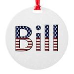 Bill Stars and Stripes Round Ornament