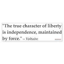 Voltaire Quote #1<br>Bumper Bumper Sticker