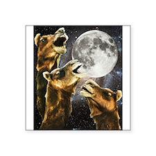 "Three Camel Moon Square Sticker 3"" x 3"""