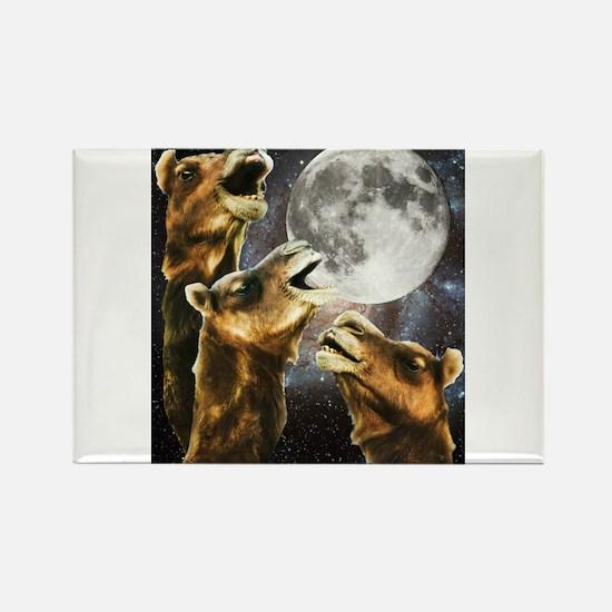 Three Camel Moon Rectangle Magnet