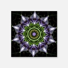 "Purple Flower Square Sticker 3"" x 3"""