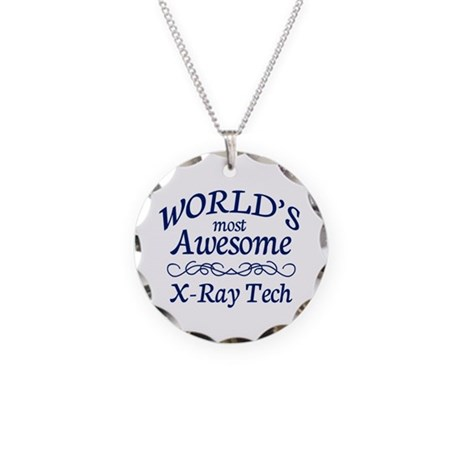 X-Ray Tech Necklace Circle Charm