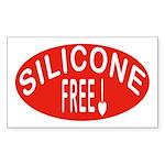 Silicone Free Rectangle Sticker