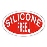 Silicone Free Oval Sticker