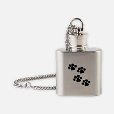 Animal Paw Prints Flask Necklace