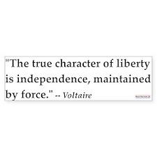Voltaire #1<br>Bumper Bumper Sticker