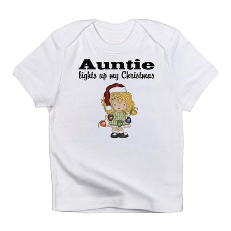 Auntie Lights Christmas Baby Shirt