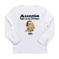 Auntie Lights Christmas Long Sleeve Baby T-Shirt