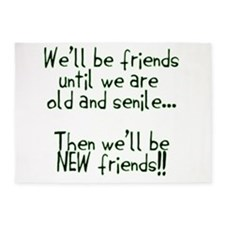 Well be friends png.png 5'x7'Area Rug