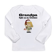 Grandpa Christmas Lights Baby T-shirt Long Sleeve