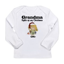 Grandma Christmas Lights Baby T-shirt Long Sleeve