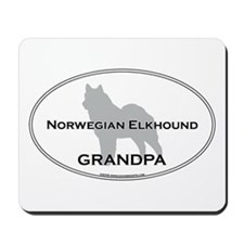 Norwegian Elkhound GRANDPA Mousepad