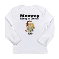 Mommy Christmas Lights Baby T-shirt Long Sleeve
