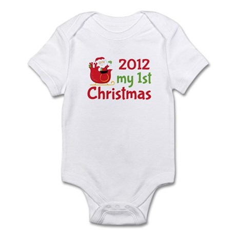 2012 First Christmas Baby Bodysuit