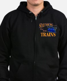 Train Zip Hoodie (dark)