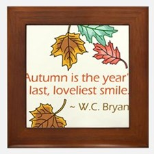 Autumn's Last Smile Framed Tile