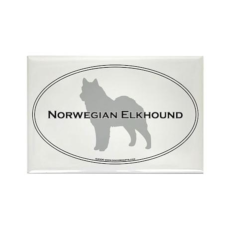 Norwegian Elkhound Rectangle Magnet