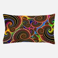 Funky Rainbow Swirl Pattern Pillow Case