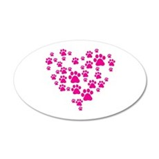 Heart of Paw Prints Wall Decal