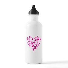 Heart of Paw Prints Sports Water Bottle