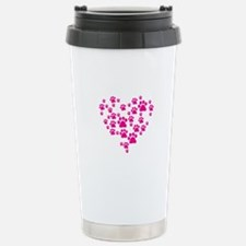 Heart of Paw Prints Stainless Steel Travel Mug