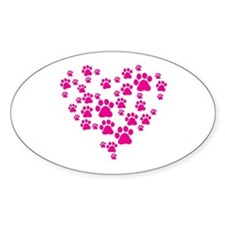 Heart of Paw Prints Decal