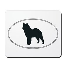Norwegian Elkhound Silhouette Mousepad