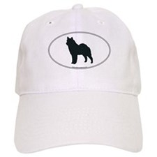 Norwegian Elkhound Silhouette Baseball Cap