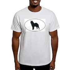 Norwegian Elkhound Silhouette Ash Grey T-Shirt