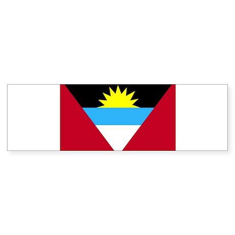 Flag of Antigua and Barbuda Sticker (Bumper)