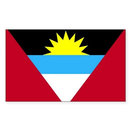 Flag of Antigua and Barbuda Sticker (Rectangle)