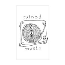 Ruined Music Rectangle Decal
