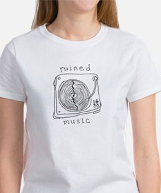 Ruined Music ladies' white t-shirt