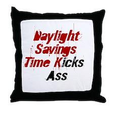 Daylight Savings Time Kicks A Throw Pillow