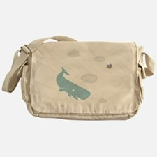 Hitchhiker Whale & Petunia Messenger Bag