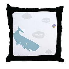 Hitchhiker Whale & Petunia Throw Pillow