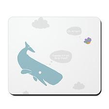 Hitchhiker Whale & Petunia Mousepad