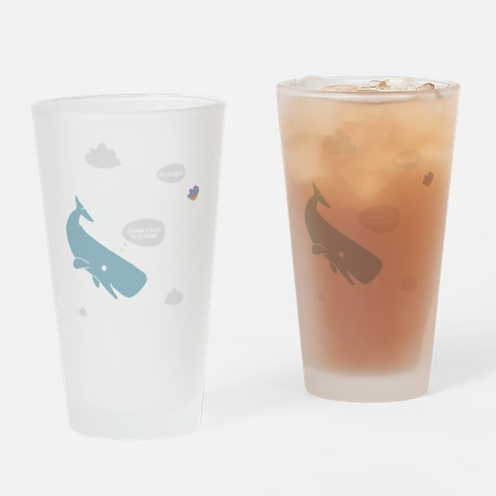 Hitchhiker Whale & Petunia Drinking Glass