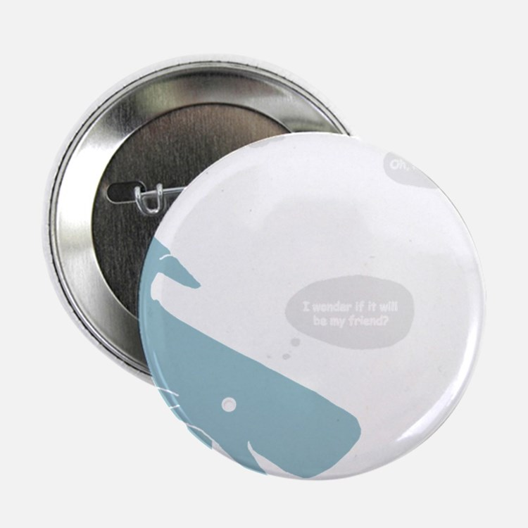 "Hitchhiker Whale & Petunia 2.25"" Button"