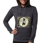 Boston Terrier Collage Womens Hooded Shirt