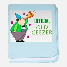 Official Old Geezer baby blanket