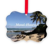Cute Maui Picture Ornament
